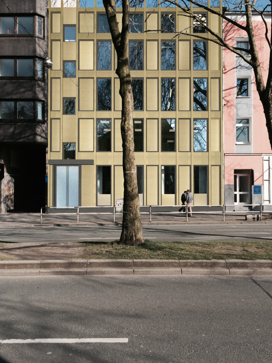 Fassade frontal  Fassade Victoriastraße | EBBING
